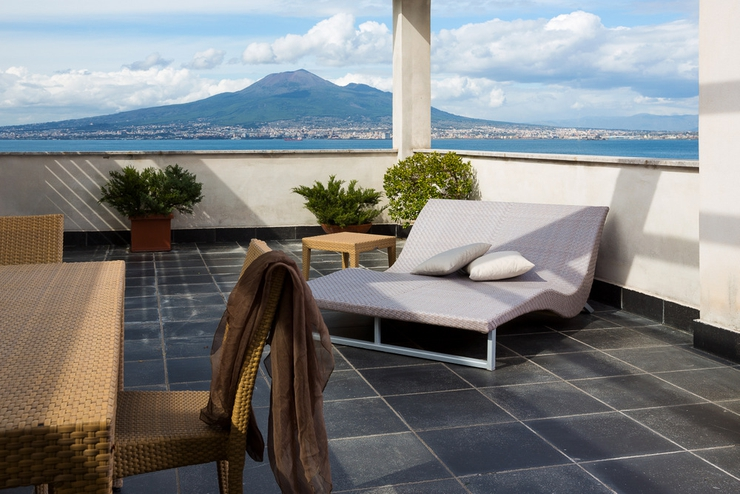 Terrace suite full sea view towers hotel stabiae sorrento coast castellammare di stabia